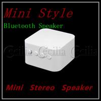 Wholesale Mini speaker Portable Wireless Speaker for iPad iPod iPhone Mini Style White