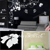Wholesale 80 x cmButterfly Vine Large Flower Wall Stickers Wall Decals home Living Room Wallpaper Art Decal