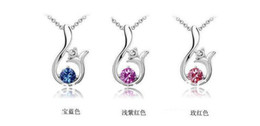 Wholesale Free delivery service parts bag Austrian crystal lily crystal pendant necklace fashio