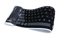 Wholesale 10pcs Flexible Foldable Silicone Mini Wireless Keyboard for iPad2 iPad3 PC Tablet Laptop Computer Ro