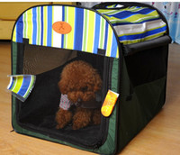 Wholesale Fashion Pet Dog fold House Breathable home dogs Bed green color big size L XL