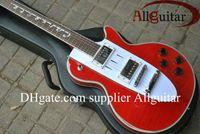 Wholesale Deluxe Custom Shop Corvette guitar red color music electric guitar