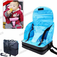 Wholesale Portable Baby Seat Toddlers High Dining Chair Booster Fold up Seat Cushion Bag