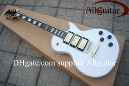 Alpine white Custom Shop peter frampton signature 3 pickups gold hardware electric guitar from alpine white guitar body suppliers