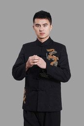 Wholesale Chinese Man Traditional Embroidery Dragon Clothing Coat Gacket