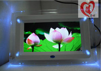 Wholesale free shipment7 quot inch Cute digital picture frame Nice Appearance LED Light with MP3 MP4 Multifunction