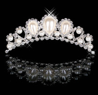 Wholesale 18 New Pearl Shining Cheap Wedding Bridal Prom Party Rhinestone Jewelry Crown