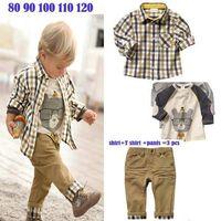 Christmas baby boy dress coat - Summer Cotton Boys pc Dress Sets Baby Pant Striped T Shirt Long Sleeved Coats T EMS Free