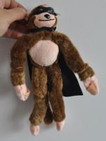 Wholesale Novelty Toy slingshot monkey screaming flying monkey Plush Toys inch with Cape amp Mask