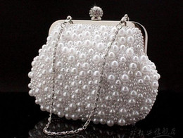 Wholesale 2012 Women Clutch Buckle Pleated Pearl Bags New Arrival Wedding Bags Evening Party Hand Bag lo k