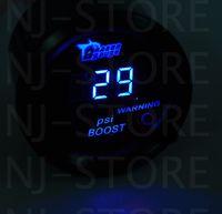 Wholesale Universal quot mm Blue Digital LED PSI Turbo Boost Gauge For Car Motor