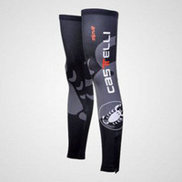 Short Anti UV Unisex 2012 CASTELLI Black Cycling Sport Leg Warmers Sleeve Spandex Coolmax Lycra UV Protection Size:S-XXL C44