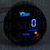 Wholesale BLACK quot mm BLUE DIGITAL LED TACHO TACHOMETER GAUGE