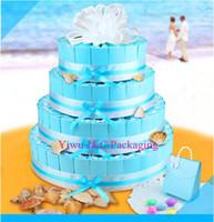 Wholesale Wedding Big Round Cake Boxes With Decoration Accessories JCO