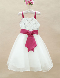 Wholesale kids party dresses sequin bowknot high quality baby girl s evening dress with haning strap