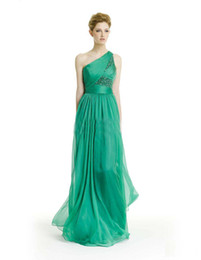 Wholesale One Shoulder Graceful Strapless Sleeveless New Sexy Chiffon Evening dress Party dress Prom gown