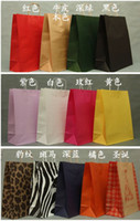 Wholesale Horizontal colorful kraft paper bag Kraft Paper shopping bag per cm