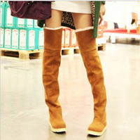 Wholesale Free Ship Women s Shoes Over the Knee Thigh Stretchy High Heels Boots Martin boots
