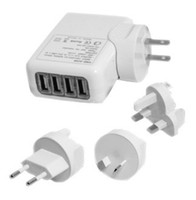 Wholesale 30pcs US AU UK EU Plug Port USB travel Wall Charger HUB AC Power Adapter Universal AB19