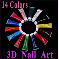 Wholesale 14 Colors Nail Tools Magical D Nail Paint Pigment Acrylic UV Gel Nail Art Polish Manicure Set Fre