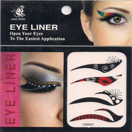 Wholesale 80 Pairs set pairs Easy To Remove Eye Shadow Eyeliner sticker Eye Liner Stickers Cosmetics Makup
