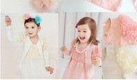 2-6Year baby cardigan - Autumn baby Cardigan kids knitting shirt Lace Flower Girls Sweater cardigan Coat Kids outwear