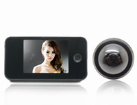 Wholesale Black quot LCD Digital video Doorbell Viewer Door Peephole Security Camera Monitor DK809