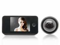 "al por mayor mirilla timbre-Negro de 3,5"" LCD Digital de vídeo Timbre de la puerta Visor de Mirilla de la Puerta de la Cámara de Seguridad del Monitor DK809"