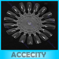 Wholesale False Nail Art Acrylic Display Tips Practice Wheel Board DIY Tool Round