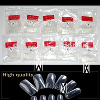 Full Natural Tips Oval Nail Tips Free Shipping New 500 pieces lot French Clear Transparent Acrylic Style Artificial Tips Nail Art Fal