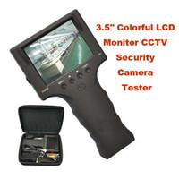 """Compra Probador de vídeo cctv portátil-Portátil de 3,5"""" Colorido LCD Monitor CCTV Cámara de Seguridad a Prueba de Video Tester Detector de Herramienta"""