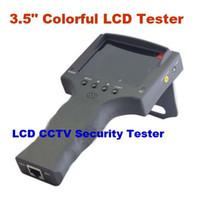 3.5quot; 10pcs/lot TFT colorido LCD Monitor CCTV seguridad cámara Video prueba Tester Detector portátil
