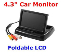 Wholesale 4 quot TFT LCD Mini Car Auto Reverse Rearview Monitor Folded CCTV security Camera DVD VCR