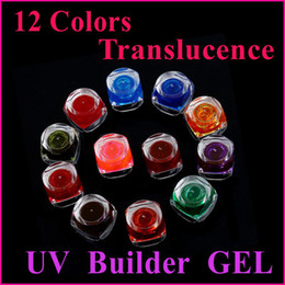 Wholesale 12 Mixed Colors Pure Translucence Nail Art UV Builder Gel Glue
