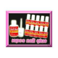 Base coat Gel Clear uv gel Nail Gel FREE SHIPPING 10x 10g PRO NAIL GLUE W BRUSH False French Tip Art G57