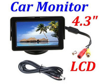 Wholesale 4 quot Color LCD Car Rearview Monitor with LED blacklight for Camera DVD VCR