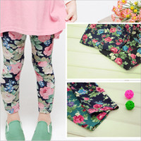 Wholesale baby clothes girls legging children flower pants Girls leggings B