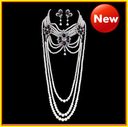 Wholesale Middle East style Crystal Jewelry Necklace set Wedding Bridal Dresses Dress Gown