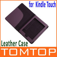Wholesale Protective PU Leather Case Cover for Amazon Kindle Touch Deep Purple C1400
