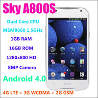 Wholesale 4 quot Sky Vega A800S Android Cell Phone MSM8660 GHz Dual Core G LTE XiaoMi Killer