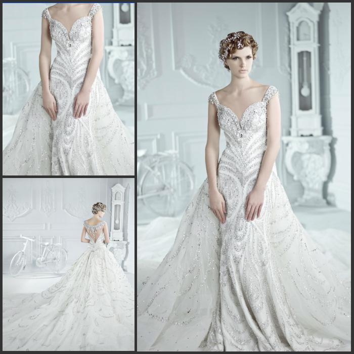 Sparkly Wedding Long Wedding Dresses Sparkly