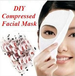 Wholesale Skin Face Care DIY Facial Paper Compress Masque Mask via hongkong post