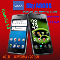 Wholesale 4 quot Vega Sky A800S Android Cell Phone GHz Dual Core GB RAM GB G LTE G WCDMA x800 HD
