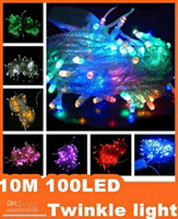 Holiday twinkle lights - 100LED M colorful String Fairy Light XMAS Christmas Party Wedding lights Twinkle lights kare DHL