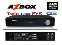 Wholesale azbox premium plus hd az box premium plus hd twin tuner decoder lateest new in stock DHL free shippi