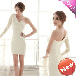 Wholesale European Style dress Fashion Sexy Strapless Lace Sleeve Dress summer dress lace3