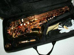 Wholesale Advanced alto sax Alto Saxophone Golden High Quality free case