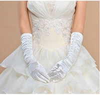 Wholesale TOP Sweet pair Cheap long fold gloves Bridal Gloves Wedding Gloves Decorating Bride Yourself