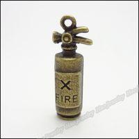 Zinc Alloy antique fire extinguishers - Vintage Fire extinguisher Pendant Antique bronze Fit Bracelet Necklace DIY Metal Jewelry