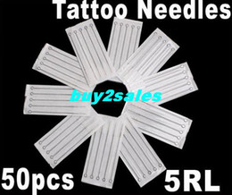Wholesale 50 Disposable Round Liner Sterile Sterilized Tattoo Needles RL Dropshipping